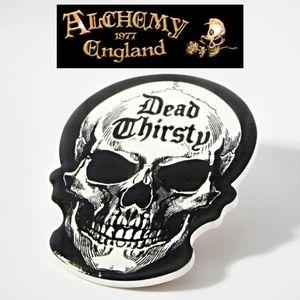 Alchemy Gothic Dead Thirsty Skull Ceramic Coaster